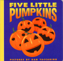 Featured Educational Book for October 2011 is Five Little Pumpkins!